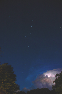 Lightning with the Big Dipper