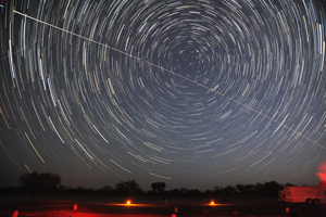 Star Trails with ISS